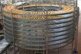 Alimento vertical do aço inoxidável que refrigera o transporte espiral