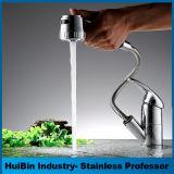 Le traitement simple balayé d'acier inoxydable de nickel abaissent le robinet de cuisine de pulvérisateur