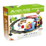 75PC DIY educativo de inteligencia de los niños juguetes magnéticos tren