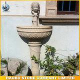 Löwe-Hauptgranit-Wand-Brunnen