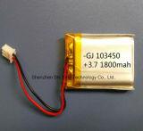 3,7 V au lithium polymère personnalisé Lipo Batterie rechargeable lithium-ion pour appareil photo-casque écouteur
