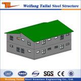 La estructura de acero de la construcción de planta de energía para el taller, almacén