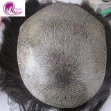 Brasileira personalizadas de cabelo humano pleno PU / Poli Toupee para homens