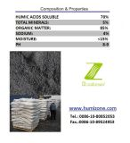 Fertilizante Super-Humic de Humizone: Pó de Humate do sódio