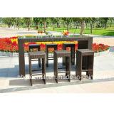 Al aire libre Rattan Bar Establece muebles de mimbre