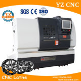 Máquina de la reparación de la rueda del torno del CNC de la reparación del rasguño de la rueda de la aleación de la generación Wrc28 tercer