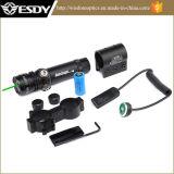 圧力スイッチおよび2つの台紙との戦術的な緑レーザーの視力