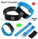 Bracelet intelligent avec le moniteur du rythme cardiaque et le Bluetooth 4.0 (V7)