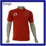 Hellblaues Stickerei-Pikee gesticktes Polo-Hemd