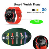 Téléphone intelligent de montre de vue ronde avec les langages multiples (W8)