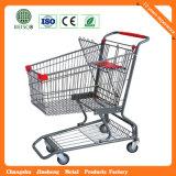 Carro do trole do supermercado de 4 rodas para a encruzilhada (JS-TAM08)