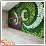 Decoração de parede de forragem de plantas artificiais