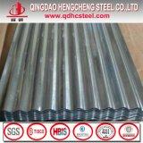 Le zinc de matériau de construction a ridé la feuille de toit galvanisée par acier