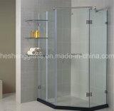 12mm claro Receptáculo de ducha de vidrio templado