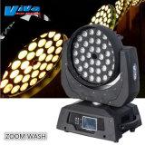 Effectuer un zoom 36x10W RGBW Quad LED de couleur le déplacement des phares