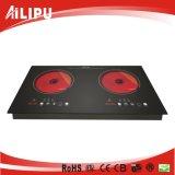Built-in 2 Fogões Infrared Cooker para cozinha familiar usado Sm-Dic09b-2