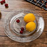 La lastra di vetro di coniatura all'ingrosso della Rosa/decora la lastra di vetro per articolo da cucina