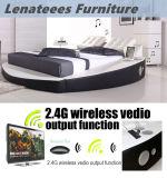 A066-1 الشعبية تصميم جولة سرير سرير الموسيقى مع إضاءة LED