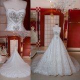 Vestido de casamento Strapless Z11128 do vestido nupcial de Ballgown do diamante