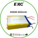 Exc 606090 3.7V 8000mAh電池のパックの再充電可能なLipol電池袋