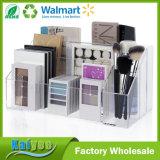 El plástico superior de la calidad de la capacidad grande compone a organizador de la gama de colores
