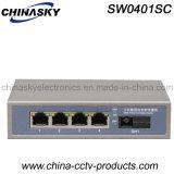 Interruttore Port di Ethernet 4 RJ45 con la fibra dello Sc Enhanced/Fe (SW0401SC)