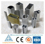 Perfil de alumínio feito sob encomenda de uma paragem para a porta e o indicador de alumínio