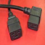 IEC C19 del cavo di alimentazione dell'unità di elaborazione del nero 1.2m a C20