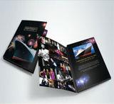 Farbenreiche preiswerte bekanntmachende videobroschüren
