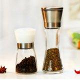 304 Salz u. Pfeffer-Schleifer-Kappe mit Glasflasche 180ml