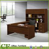 나무로 되는 가구 사무실 L 모양 실무자 책상