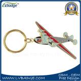 Qualitäts-Andenken-Flugzeug-Form-Goldmetall Keychain