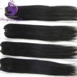 インドの毛の膚触りがよくまっすぐなバージンの人間の毛髪のよこ糸