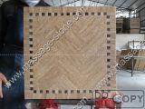Plaza de la Mesa de mármol beige para el juego de comedor