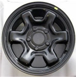 J-322 Durable Steel Car Wheel Rims con Different Sizes