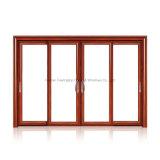 A porta corrediça de alumínio Vidro Temperado Oco para Quarto Residencial (FT-D190)