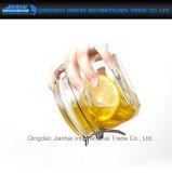 botella de cristal redonda del almacenaje de la tapa del clip 500ml para la miel