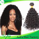 Kinky человеческие волосы бразильянина верхнего качества Weave курчавых волос 7A