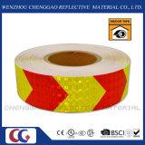 Лента видности Self-Adhesive безопасности стрелки PVC отражательной предупреждающий (C3500-AW)