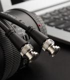 BNC macho a macho cable coaxial de vídeo para la cámara de circuito cerrado de televisión