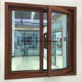 Thermal Break Janela de alumínio com madeira Wenge Clading Interior