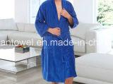 Настраиваемые 100% хлопок белый отель Терри полотенце тканью спа халат / банный халат