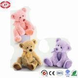 Urso agradável da peluche do brinquedo de três miúdos do presente das escolhas das cores