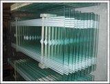 o vidro Tempered de 3-19mm com furos/lustrou bordas para o edifício e a mobília