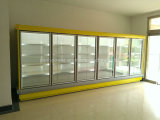 Gabinete de indicador Refrigerated ereto do supermercado da fonte da fábrica