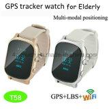 Hot GPS tracker Watch pour adulte/POSITION PERSONNELLE AVEC DE MULTIPLES T58