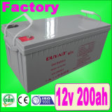 Sobre a longa vida Span 12V 200ah Gel Batter de 10 Years para UPS Battery de Solar System/