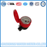 Medidor pequeña solo chorro de agua caliente con color rojo DN15-DN25