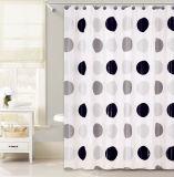 Tenda di acquazzone nera di disegno PEVA dei puntini per la stanza da bagno
