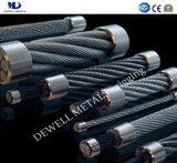 Galv. corde du fil d'acier 6X36ws+FC